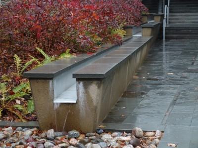 End of a rain ladder at the Science Center. photo credit: Rob Manduca