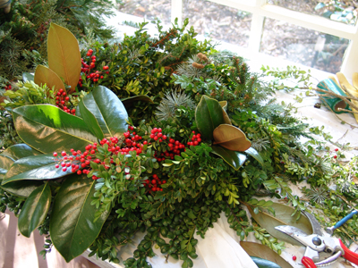 Green Wreath made at Scott Arboretum workshops. photo credit: R. Maurer
