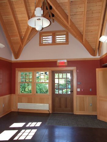 Reception area in the Wister Center. photo credit: Acher and Buchanan