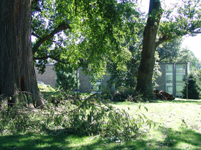 Minor damage from Irene. photo credit: R. Robert