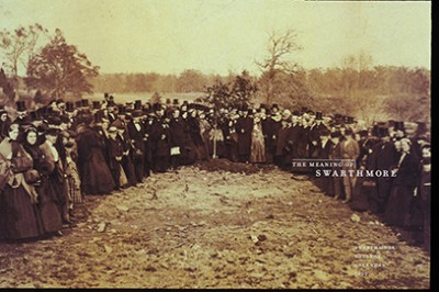 The Quaker founders planted two oak trees in a ceremony to commemorate the college's inauguration. photo credit: Scott Arboretum Archives