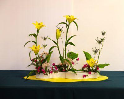 ohara school of ikebana flower arranging class scott ampm logistics brisbane ca am pm mascot