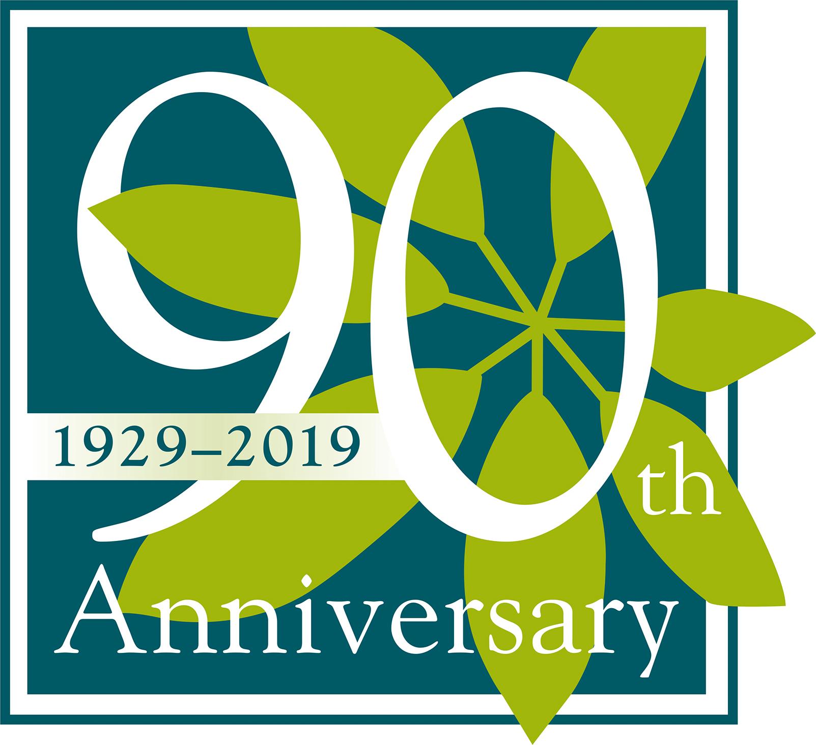 Scott Arboretum 90 Year Anniversary Logo